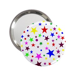 Stars Pattern Background Colorful Red Blue Pink 2.25  Handbag Mirrors