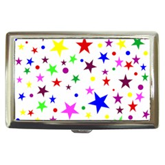 Stars Pattern Background Colorful Red Blue Pink Cigarette Money Cases