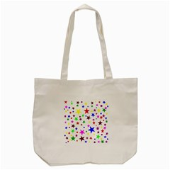 Stars Pattern Background Colorful Red Blue Pink Tote Bag (Cream)