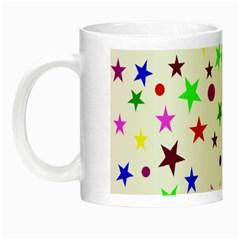 Stars Pattern Background Colorful Red Blue Pink Night Luminous Mugs