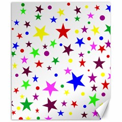 Stars Pattern Background Colorful Red Blue Pink Canvas 8  x 10