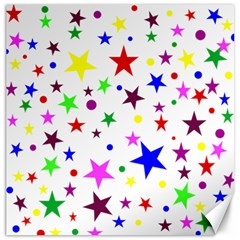 Stars Pattern Background Colorful Red Blue Pink Canvas 12  x 12