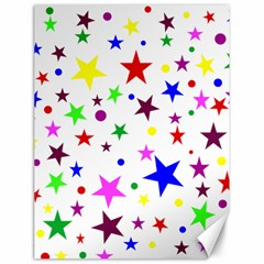 Stars Pattern Background Colorful Red Blue Pink Canvas 18  x 24