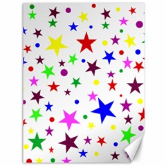 Stars Pattern Background Colorful Red Blue Pink Canvas 36  x 48