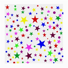 Stars Pattern Background Colorful Red Blue Pink Medium Glasses Cloth (2-Side)