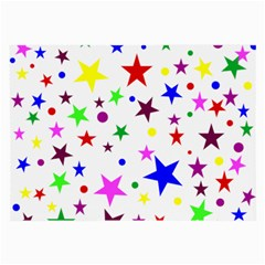 Stars Pattern Background Colorful Red Blue Pink Large Glasses Cloth (2-Side)