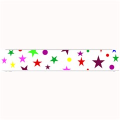 Stars Pattern Background Colorful Red Blue Pink Small Bar Mats