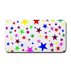 Stars Pattern Background Colorful Red Blue Pink Medium Bar Mats