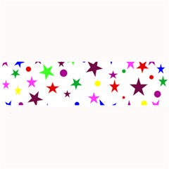 Stars Pattern Background Colorful Red Blue Pink Large Bar Mats