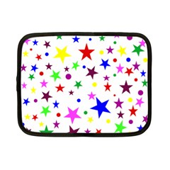 Stars Pattern Background Colorful Red Blue Pink Netbook Case (Small)