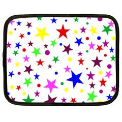 Stars Pattern Background Colorful Red Blue Pink Netbook Case (Large)
