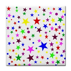 Stars Pattern Background Colorful Red Blue Pink Face Towel