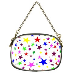 Stars Pattern Background Colorful Red Blue Pink Chain Purses (One Side)