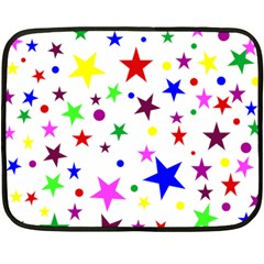 Stars Pattern Background Colorful Red Blue Pink Double Sided Fleece Blanket (Mini)