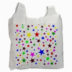 Stars Pattern Background Colorful Red Blue Pink Recycle Bag (Two Side)
