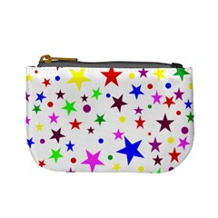 Stars Pattern Background Colorful Red Blue Pink Mini Coin Purses