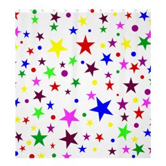 Stars Pattern Background Colorful Red Blue Pink Shower Curtain 66  x 72  (Large)