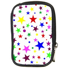 Stars Pattern Background Colorful Red Blue Pink Compact Camera Cases