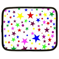 Stars Pattern Background Colorful Red Blue Pink Netbook Case (XL)