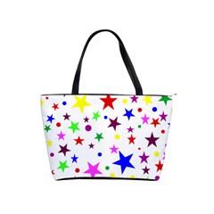 Stars Pattern Background Colorful Red Blue Pink Shoulder Handbags