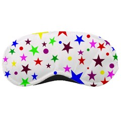 Stars Pattern Background Colorful Red Blue Pink Sleeping Masks