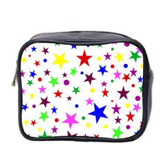 Stars Pattern Background Colorful Red Blue Pink Mini Toiletries Bag 2-Side