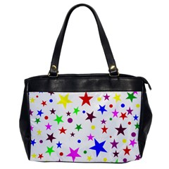 Stars Pattern Background Colorful Red Blue Pink Office Handbags
