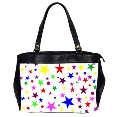 Stars Pattern Background Colorful Red Blue Pink Office Handbags (2 Sides)