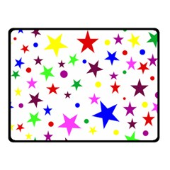 Stars Pattern Background Colorful Red Blue Pink Fleece Blanket (Small)