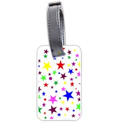 Stars Pattern Background Colorful Red Blue Pink Luggage Tags (One Side)