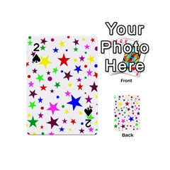 Stars Pattern Background Colorful Red Blue Pink Playing Cards 54 (Mini)
