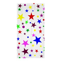 Stars Pattern Background Colorful Red Blue Pink Shower Curtain 36  x 72  (Stall)