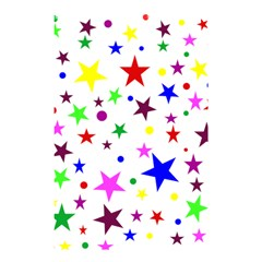 Stars Pattern Background Colorful Red Blue Pink Shower Curtain 48  x 72  (Small)