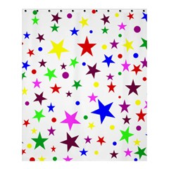 Stars Pattern Background Colorful Red Blue Pink Shower Curtain 60  x 72  (Medium)