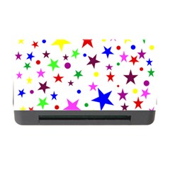 Stars Pattern Background Colorful Red Blue Pink Memory Card Reader with CF