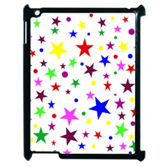 Stars Pattern Background Colorful Red Blue Pink Apple iPad 2 Case (Black)