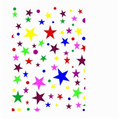 Stars Pattern Background Colorful Red Blue Pink Large Garden Flag (Two Sides)