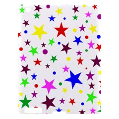 Stars Pattern Background Colorful Red Blue Pink Apple iPad 3/4 Hardshell Case