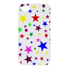 Stars Pattern Background Colorful Red Blue Pink Apple iPhone 4/4S Premium Hardshell Case