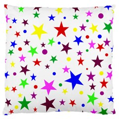 Stars Pattern Background Colorful Red Blue Pink Large Cushion Case (One Side)