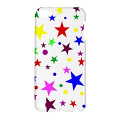 Stars Pattern Background Colorful Red Blue Pink Apple iPod Touch 5 Hardshell Case