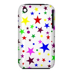 Stars Pattern Background Colorful Red Blue Pink Iphone 3s/3gs