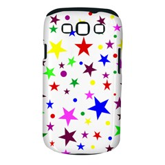 Stars Pattern Background Colorful Red Blue Pink Samsung Galaxy S Iii Classic Hardshell Case (pc+silicone)