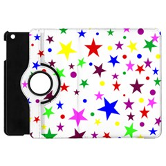 Stars Pattern Background Colorful Red Blue Pink Apple iPad Mini Flip 360 Case