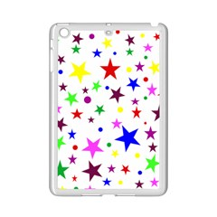 Stars Pattern Background Colorful Red Blue Pink iPad Mini 2 Enamel Coated Cases