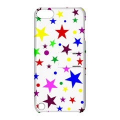 Stars Pattern Background Colorful Red Blue Pink Apple iPod Touch 5 Hardshell Case with Stand
