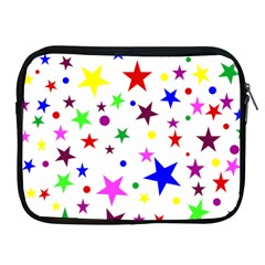 Stars Pattern Background Colorful Red Blue Pink Apple Ipad 2/3/4 Zipper Cases