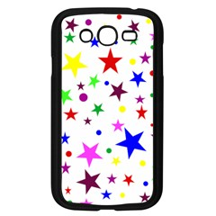 Stars Pattern Background Colorful Red Blue Pink Samsung Galaxy Grand DUOS I9082 Case (Black)