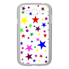 Stars Pattern Background Colorful Red Blue Pink Samsung Galaxy Grand DUOS I9082 Case (White)