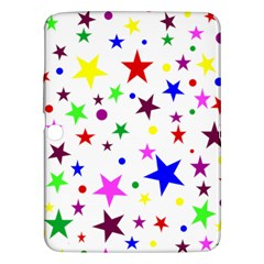 Stars Pattern Background Colorful Red Blue Pink Samsung Galaxy Tab 3 (10.1 ) P5200 Hardshell Case